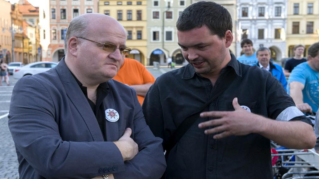 Protest proti komunistům v Českých Budějovicích