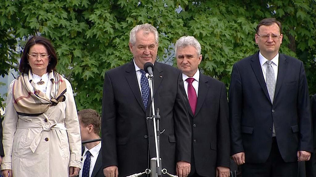Miroslava Němcová, Miloš Zeman, Milan Štěch a Petr Nečas