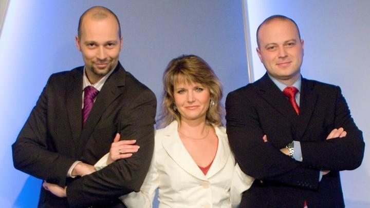 Petr Malý s Lenkou Solanskou a Michalem Filou