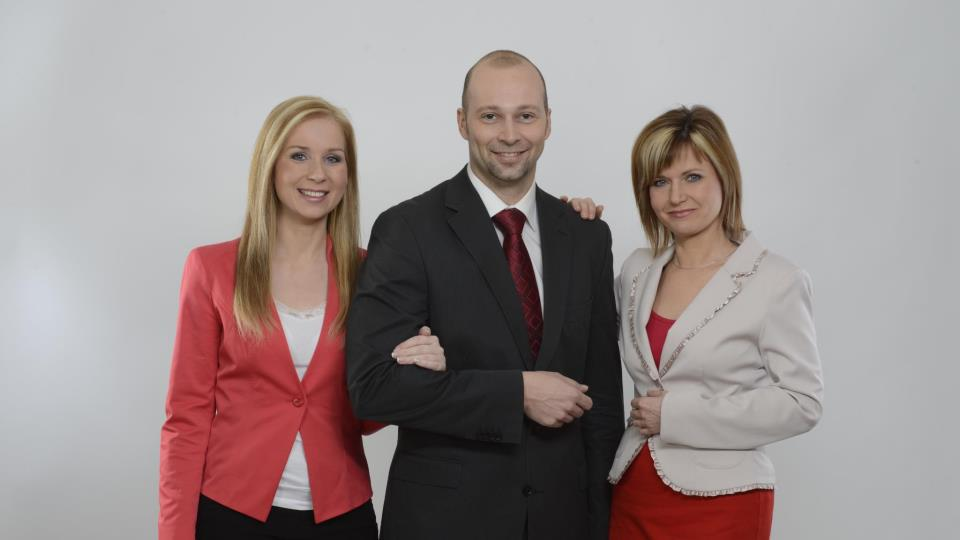 Petr Malý s Ivanou Šmelovou a Lenkou Solanskou