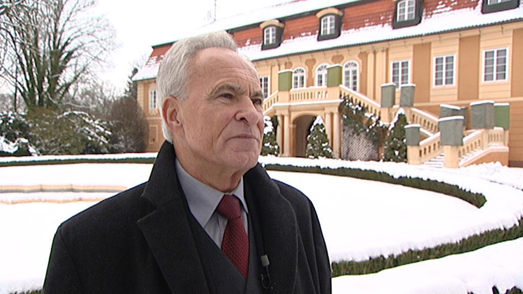 Ředitel zámku Štiřín Václav Hrubý