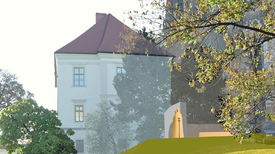 Vizualizace nové sochy v centru Brna