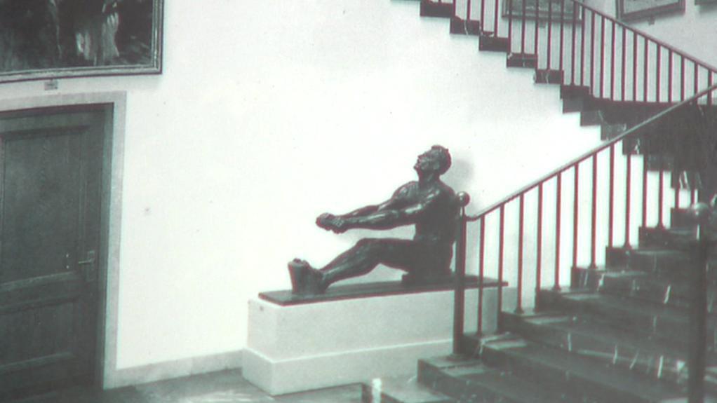 Socha Veslaře ze sbírky Adolfa Hitlera na svém původním místě
