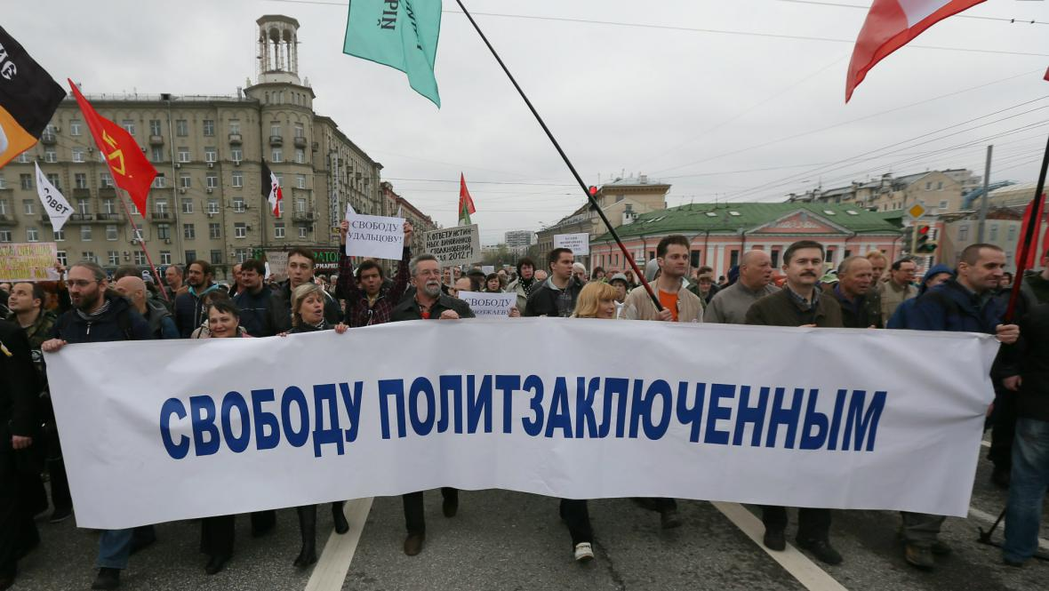Demonstrace opozice v Moskvě