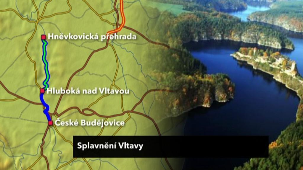 Nový úsek splavněné Vltavy