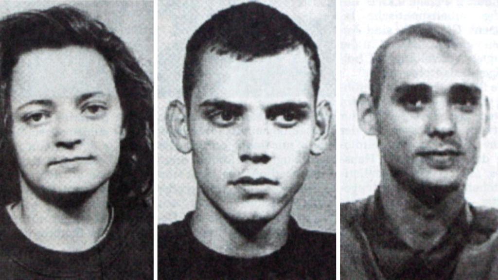 Zakladatelé NSU: Beate Zschäpeová, Uwe Böhnhardt a Uwe Mundlos