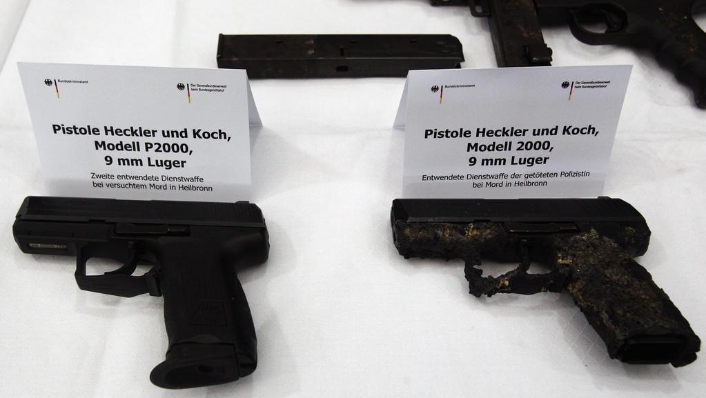 Pistole zabavené při poslední případu - vraždy policistky