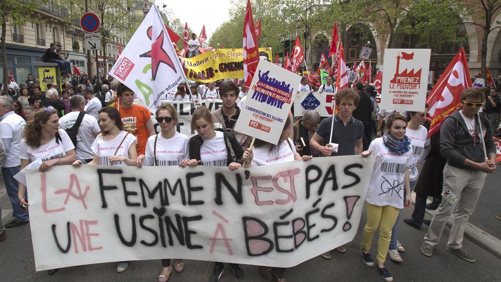 Protest proti praxi levicové vlády ve Francii