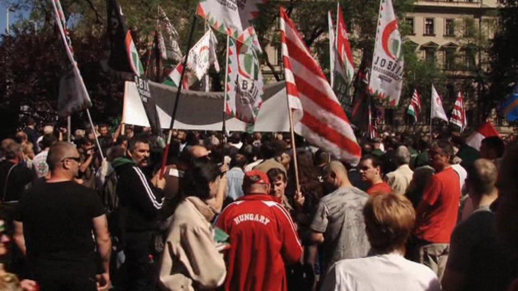 Demonstrace strany Jobbik