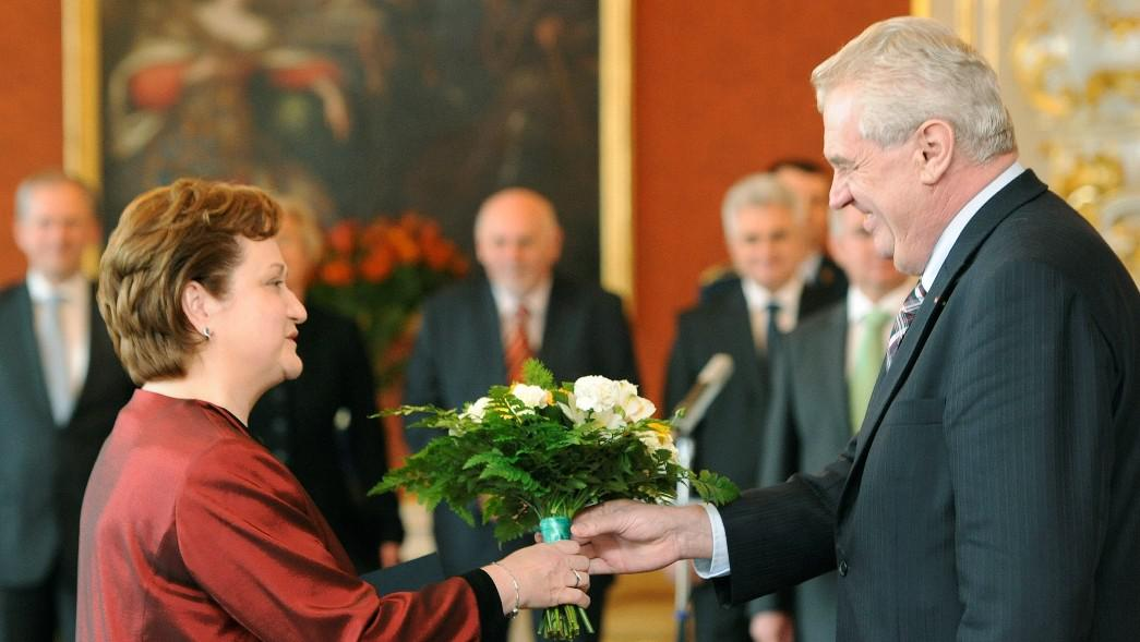 Milada Tomková a Miloš Zeman
