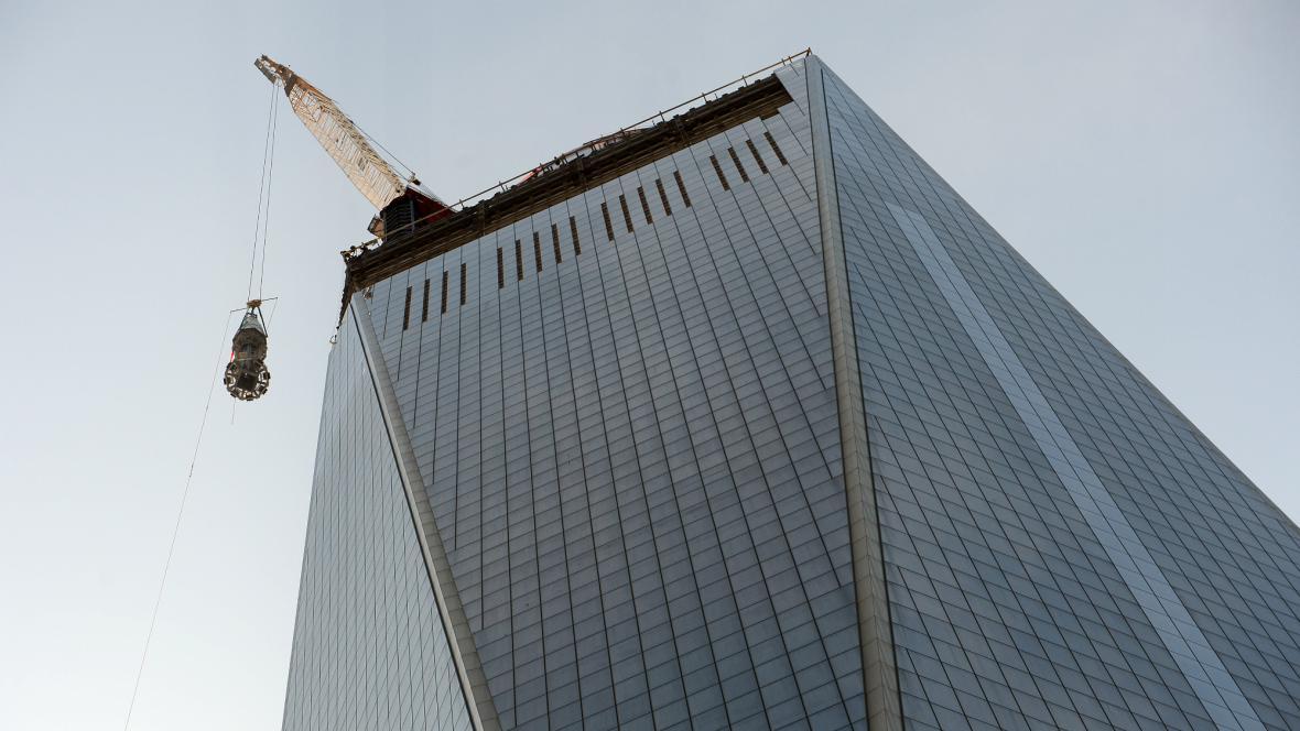 Světové obchodní středisko dostalo špičku