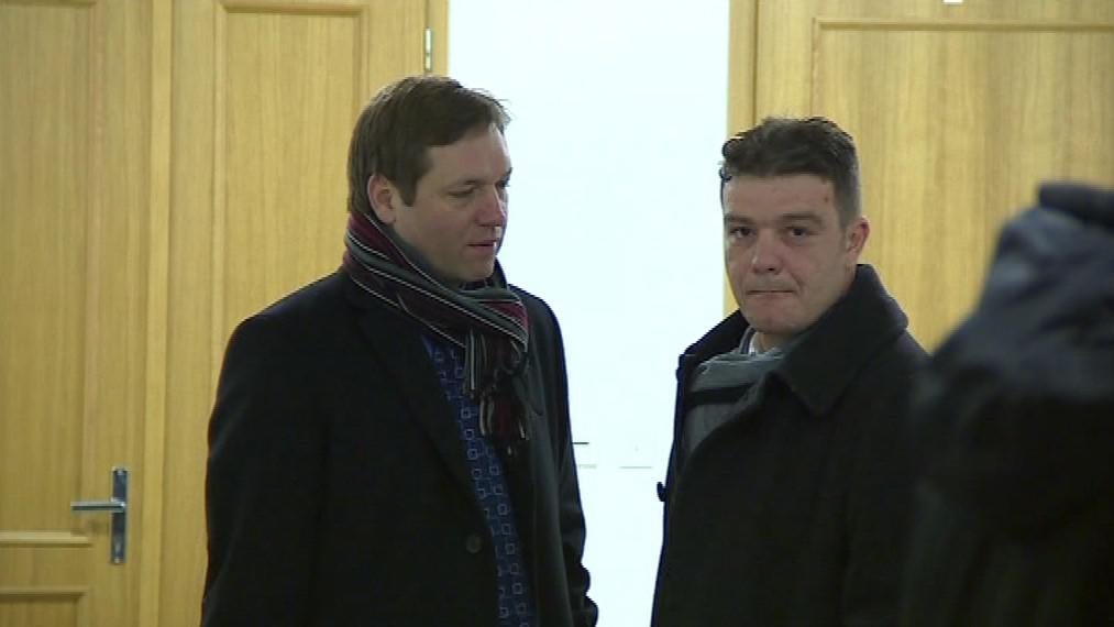 Obžalovaný Radim Már (vpravo)