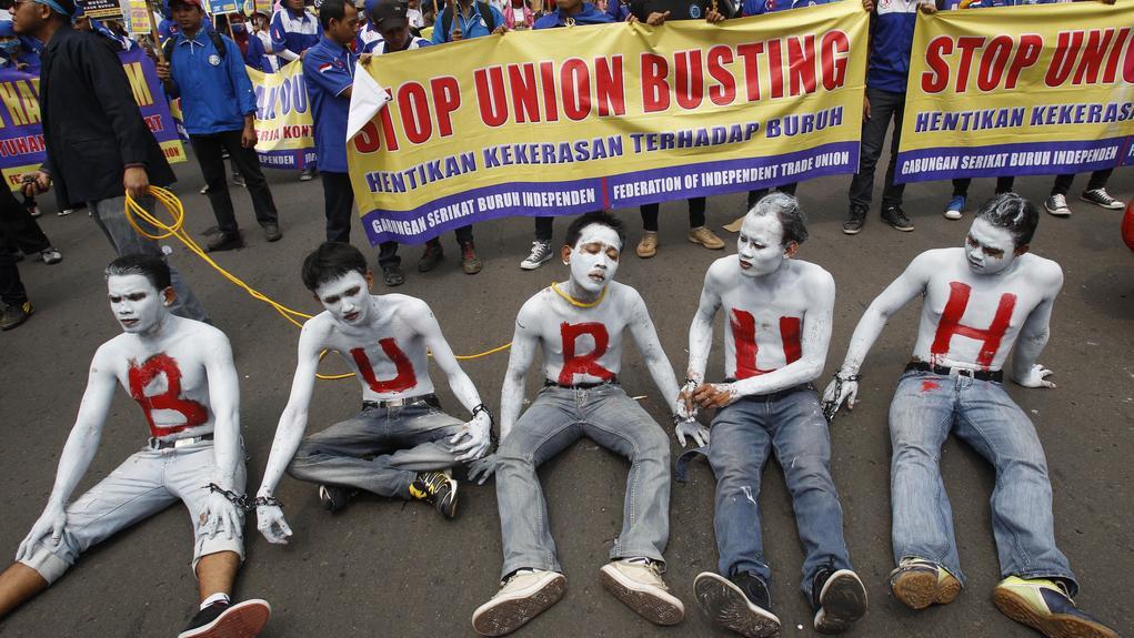 Průvod v indonéské Jakartě