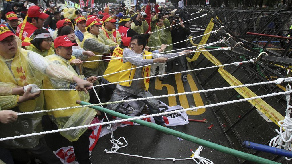 Protesty dělníků na Tchaj-wanu