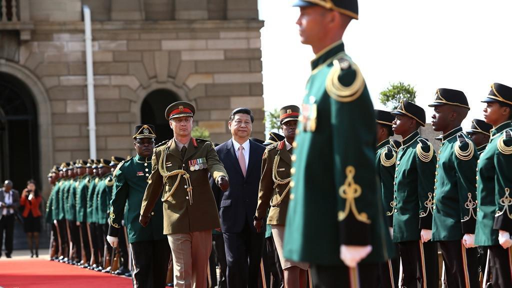Čínský prezident při návštěvě Jihoafrické republiky