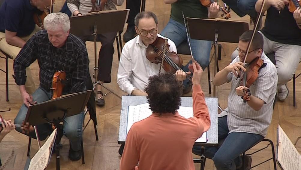 Zkouška Filharmonie Brno před cestou do Mnichova