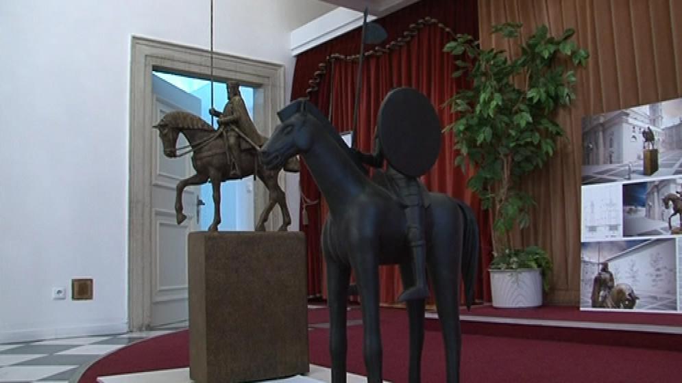 Vítězný návrh jezdecké sochy Jošta Moravského
