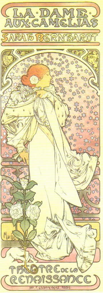 Alfons Mucha / Dáma s kaméliemi