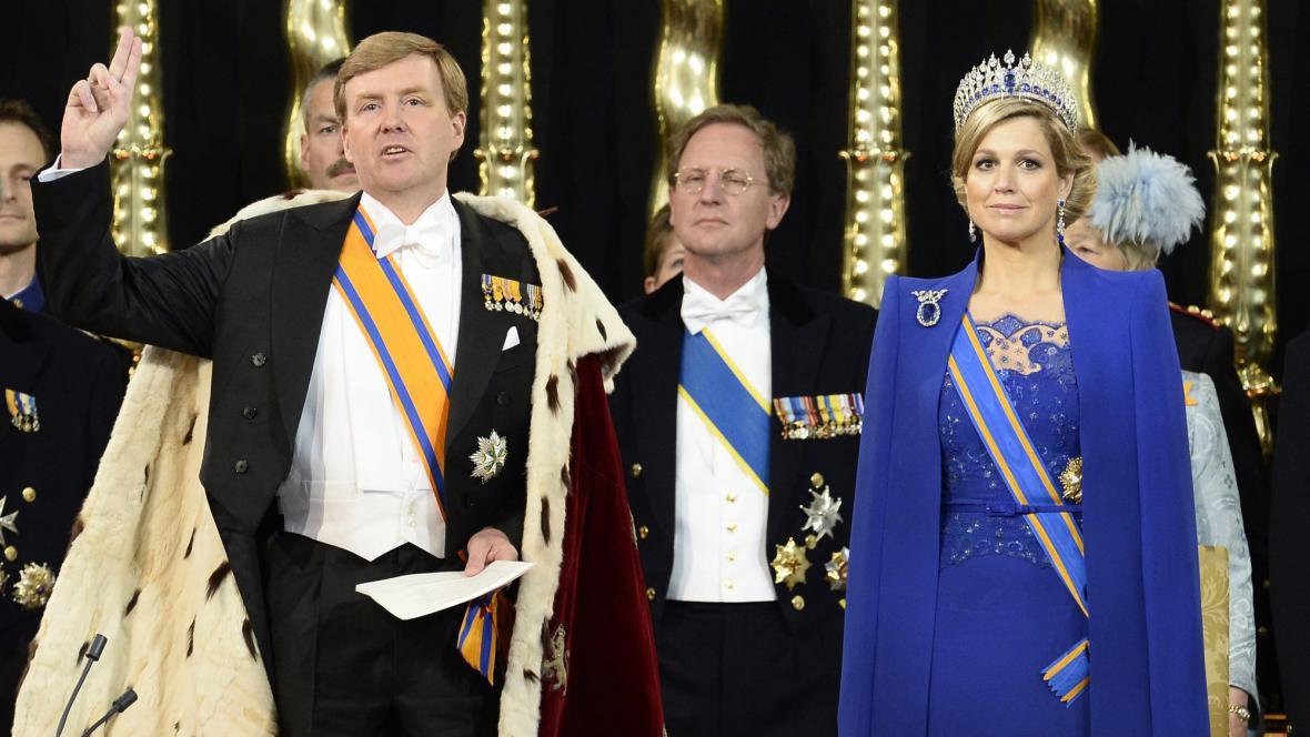 Král Willem-Alexander skládá přísahu