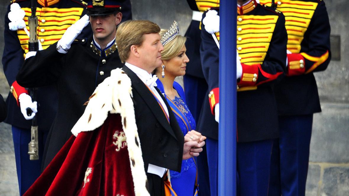 Král Willem-Alexander s chotí Máximou