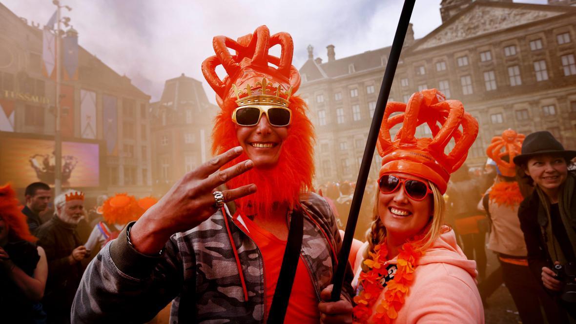 Nizozemci slaví nástup nového krále