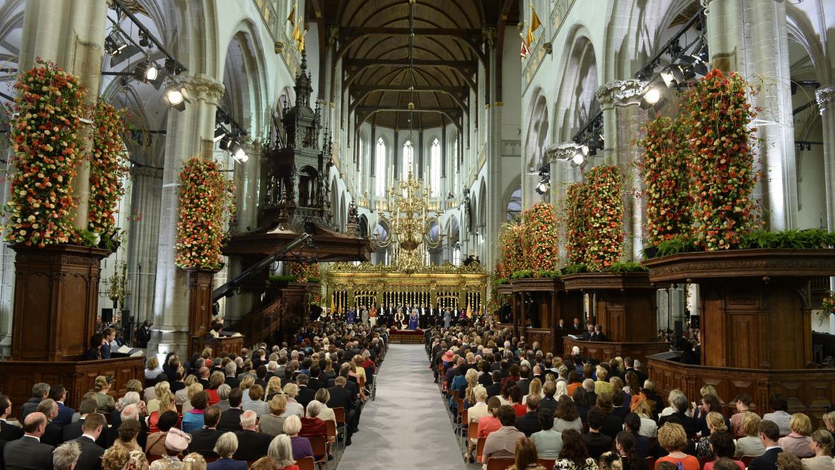Inaugurace v chrámu Nieuwe Kerk