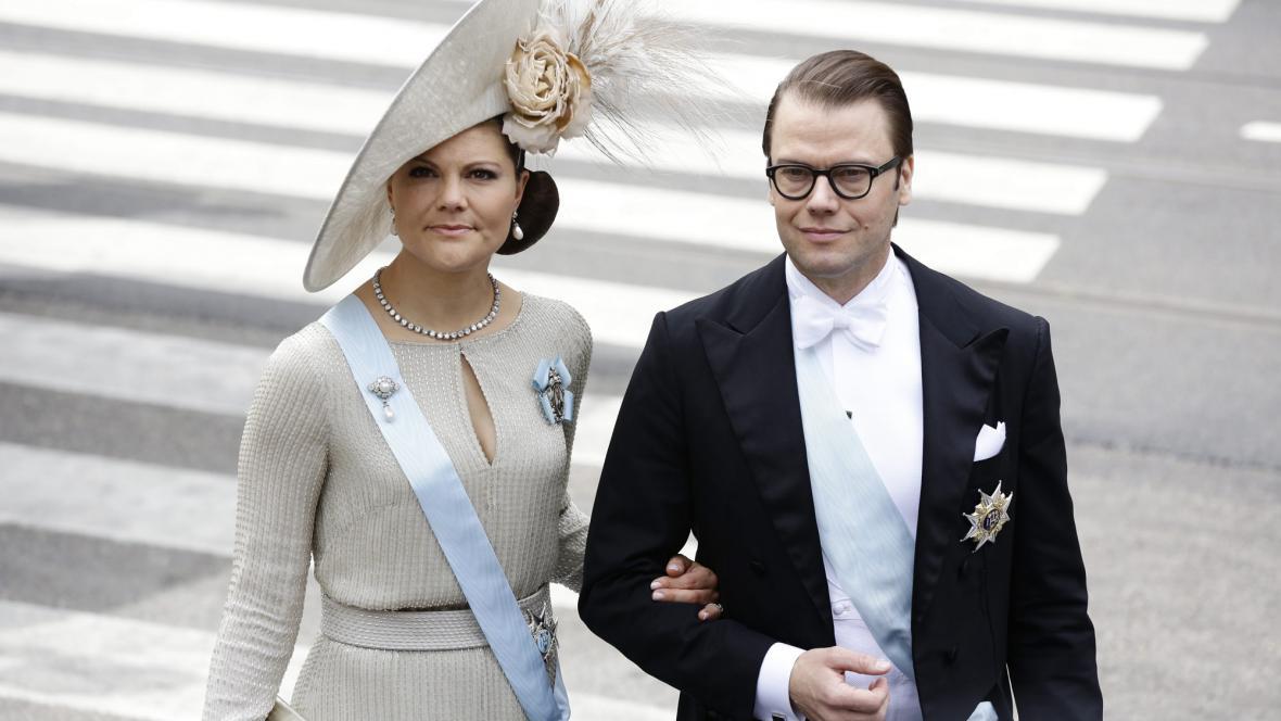 Švédská korunní princezna Victorie a princ Daniel