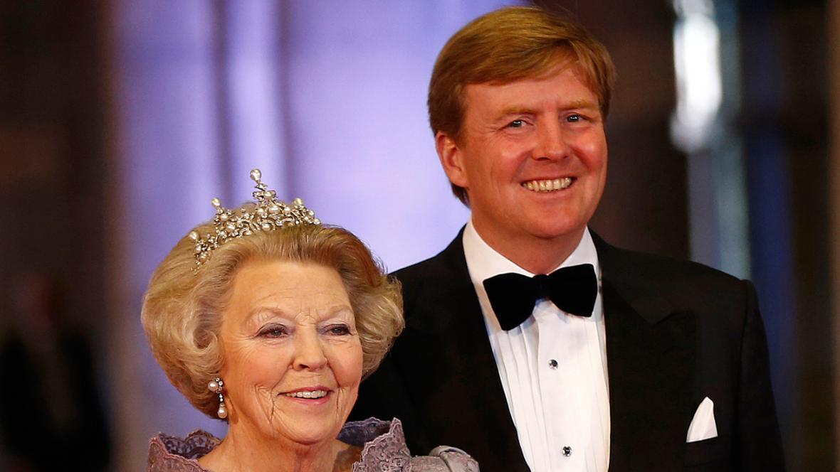 Princ Willem-Alexander a královna Beatrix