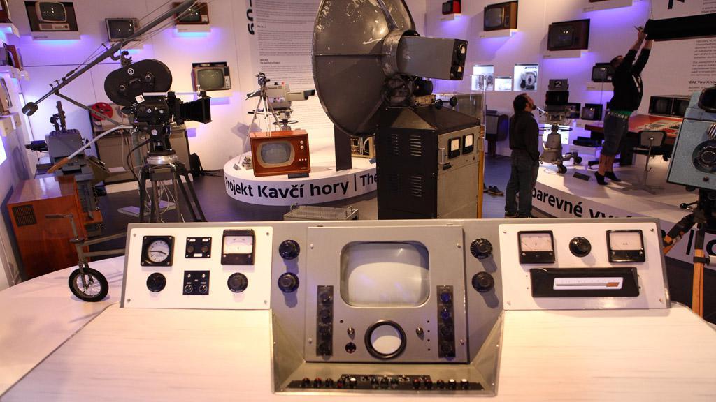 Z výstavy 60 let televizního vysílání