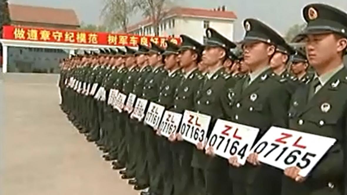 Čínská armáda představila nové vojenské SPZ