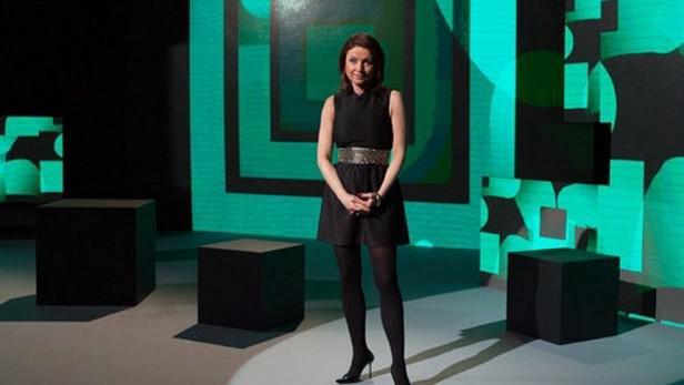 Jolana Voldánová - průvodkyně Teleautomatem zpravodajství a publicistiky
