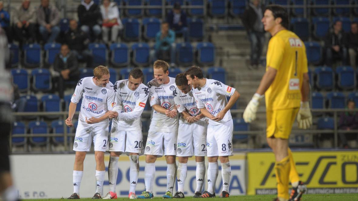 Slovácko slaví gól