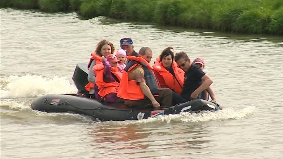 Lidé si mohli vyzkoušet evakuaci při velké vodě