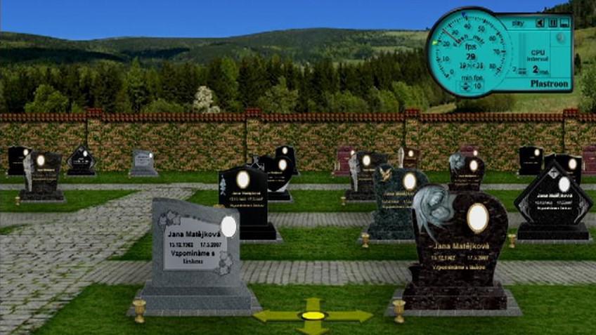 Virtuální hřbitov na internetu