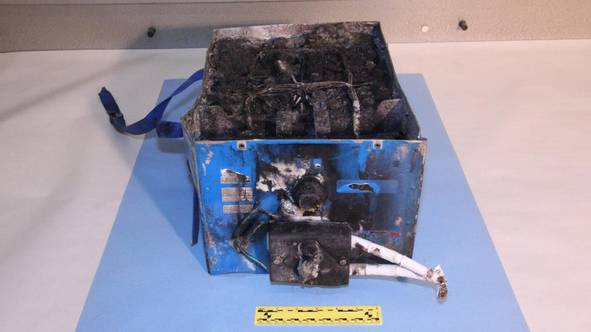 Poškozená baterie z dreamlineru