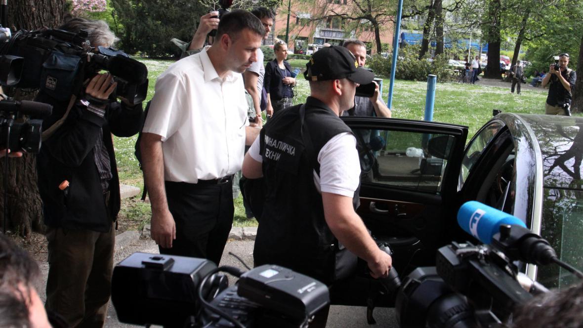 Policie prohledává auto Živka Budimira
