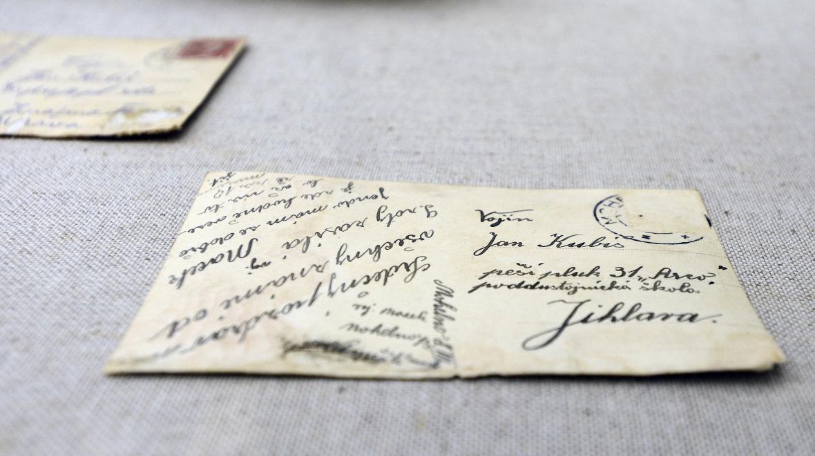 Předválečné dopisy nalezené při rekonstrukci rodného domu Jana Kubiše