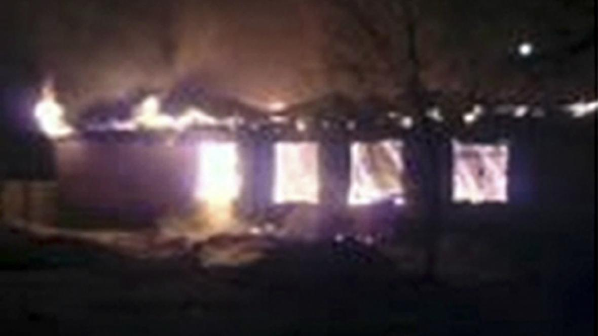 Požár psychiatrické léčebny v Rusku