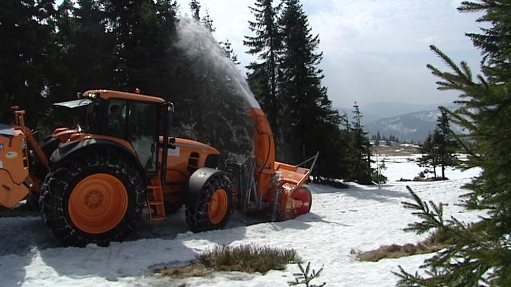 Cvičení hasičů v Krkonoších
