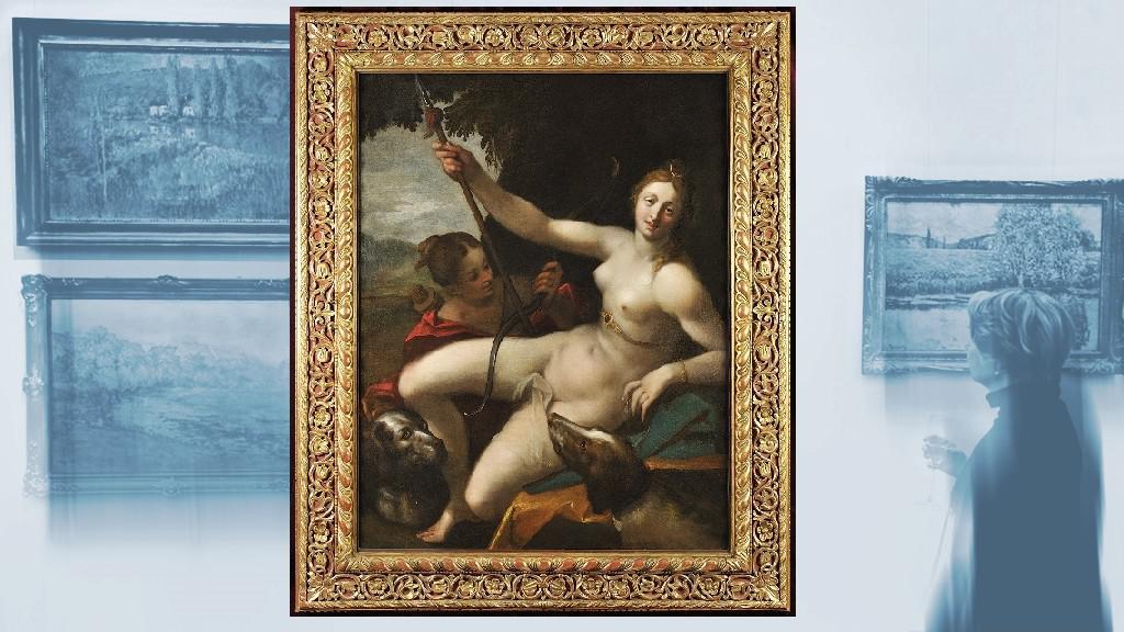 Malba připisovaná malíři Hansi von Aachenovi
