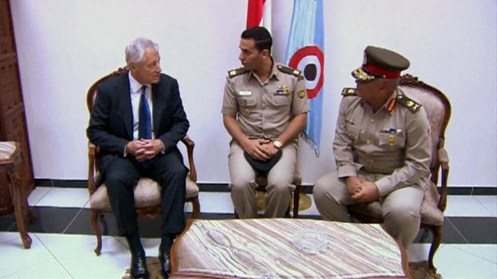 Chuck Hagel na návštěvě Egypta