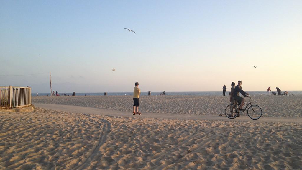 Pláž v Santa Monice