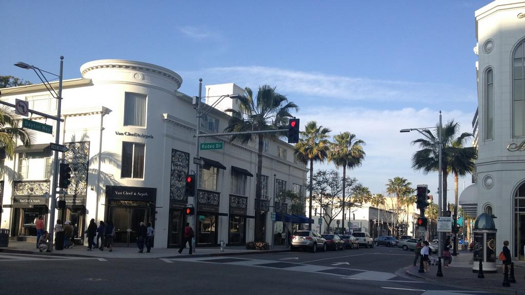 Ulice Rodeo Drive v Beverly Hills