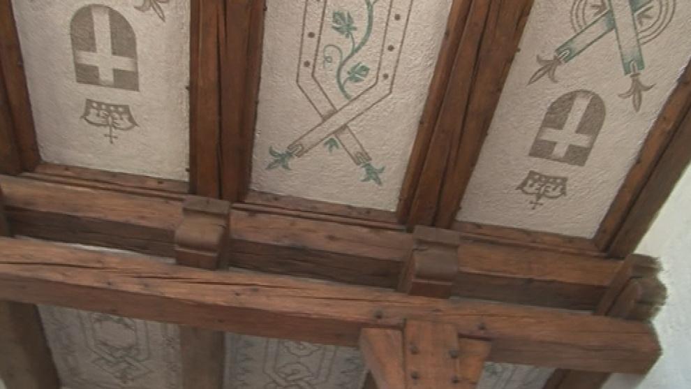 Detail opraveného stropu