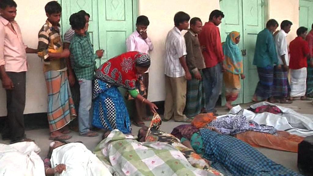 Oběti ze zřícené budovy Rana Plaza v Bangladéši