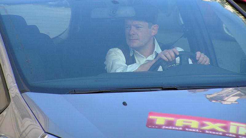 Aleš Háma v taxíku