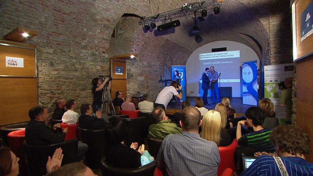 Předávání Novinářské ceny 2012