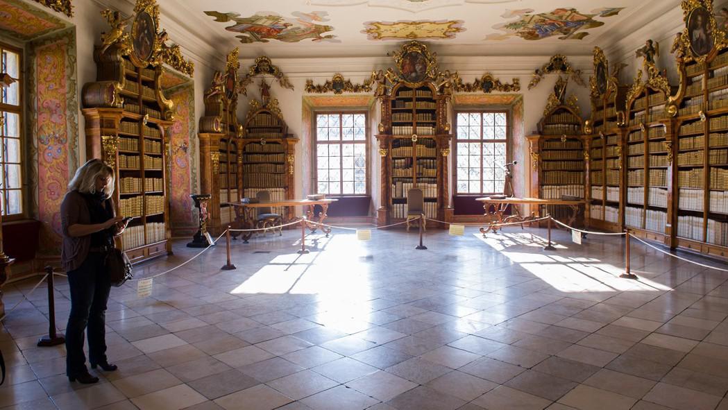 Klášterní knihovna ve Vyšším Brodě