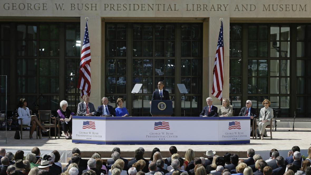 Otevření Bushova prezidentského centra