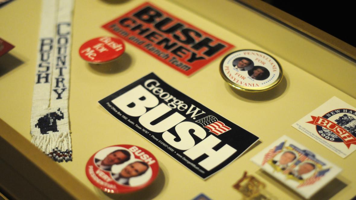 Exponáty v Prezidentském středisku George W. Bushe v Dallasu